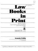 Law Books in Print PDF