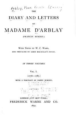 The Diary and Letters of Madame D Arblay  Frances Burney  PDF