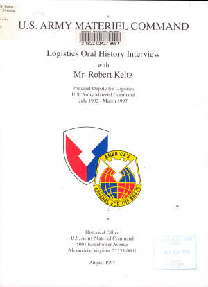 Logistics Oral History Interview with Robert Keltz PDF