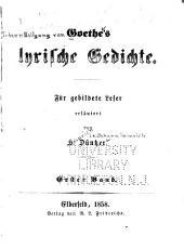 Goethe's Leben und Schriften
