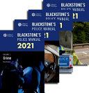 Blackstone's Police Manuals 2021: Four Volume Set