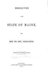 Resolves of the State of Maine