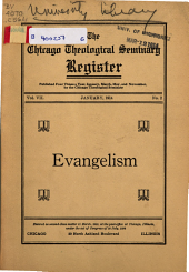 The Chicago Theological Seminary Register: Volume 7, Issue 2