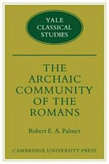 The Archaic Community of the Romans Book