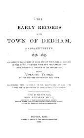 The Early Records of the Town ...