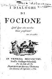 I dialoghi de Focione ...