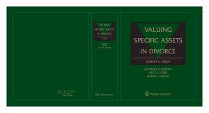 Valuing Specific Assets in Divorce