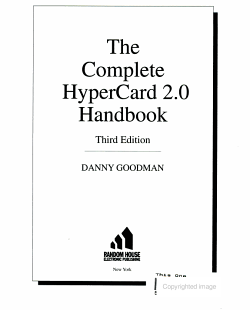 Comp HyperCard 2 0 Handbook PDF