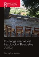 Routledge International Handbook of Restorative Justice PDF