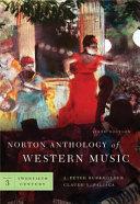 Norton Anthology Of Western Music Twentieth Century