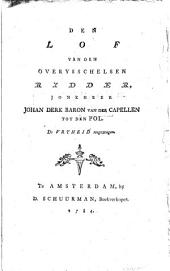 Den lof van den Overijsselsen ridder, Jonkheer Johan Derk Baron van der Capellen tot den Pol, de vrijheid toegezongen: Volume 1