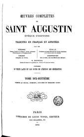 Œuvres complètes de Saint Augustin: Volume18