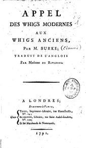 Appel des Whigs modernes aux Whigs anciens