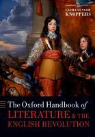 The Oxford Handbook of Literature and the English Revolution PDF