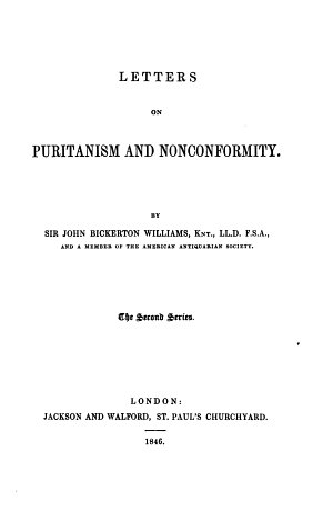 Letters on Puritanism and Nonconformity