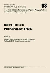 Recent Topics in Nonlinear PDE