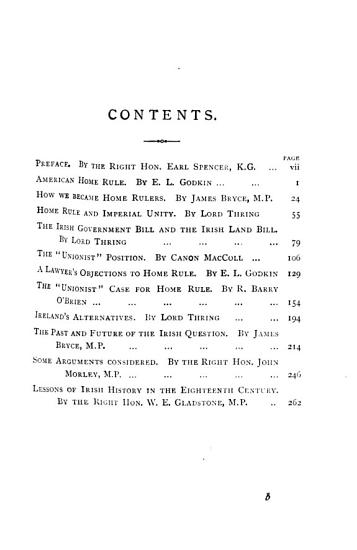 Handbook of home rule  articles on the Irish question by W E  Gladstone  and others   ed  by J  Bryce PDF