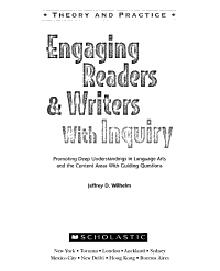 Engaging Readers   Writers with Inquiry Book