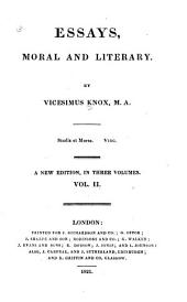 Essays, Moral and Literary: Volume 2