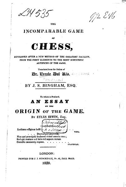 Download The Incomparable Game of Chess Book