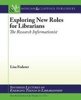 Exploring New Roles for Librarians PDF