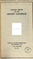 Monthly Report of the Military Governor PDF