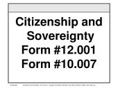Citizenship and Sovereignty, Form #12.001