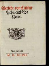 Bericht von Caspar Schwenckfelds Leere