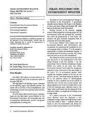 Israel Environment Bulletin PDF