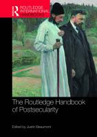 The Routledge Handbook of Postsecularity PDF