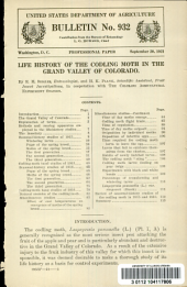 Life history of the codling moth in the Grand Valley of Colorado: Volumes 926-950