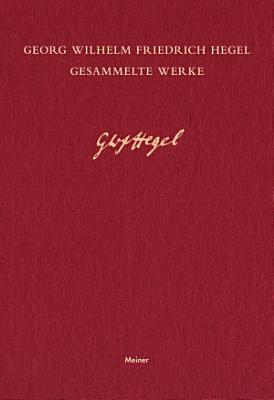 Gesammelte Werke   Vorlesungen   ber die Philosophie des Rechts IV PDF
