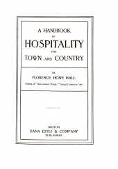 A Handbook of Hospitality for Town and Country