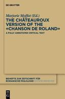 The Chateauroux Version of the -Chanson de Roland-