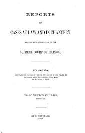 Reports of Cases at Common Law and in Chancery Argued and Determined in the Supreme Court of the State of Illinois: Volume 154