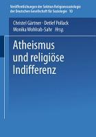 Atheismus und religi  se Indifferenz PDF