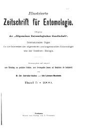 Illustrierte Zeitschrift für Entomologie: Band 5
