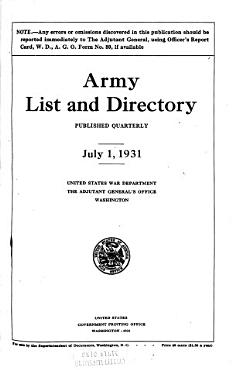 Army List and Directory PDF