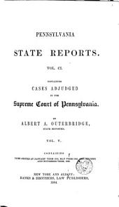 Pennsylvania State Reports: Volume 101