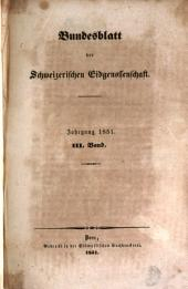 Bundesblatt: Band 3