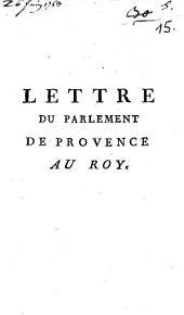Lettre Du Parlement De Provence Au Roy