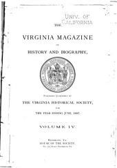 The Virginia Magazine of History and Biography: Volume 4