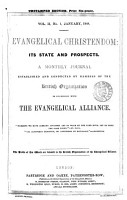 Evangelical Christendom  Its State and Prospects PDF