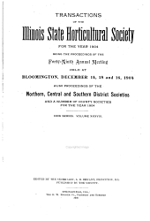 Transactions of the Illinois State Horticultural Society: Volume 38