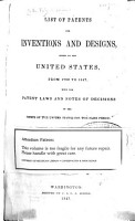 List of Patents for Inventions and Designs PDF