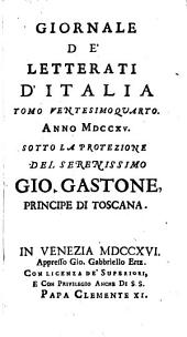 Giornale de' letterati d'Italia: Volume 24