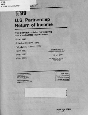 U S  Partnership Return of Income