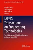IAENG Transactions on Engineering Technologies PDF