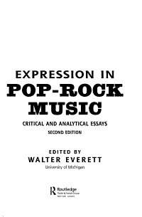 Expression in Pop rock Music