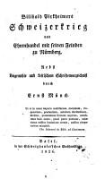Bilibald Pirkheimers Schweizerkrieg und Ehrenhandel mit seinen Feinden zu N  rnberg PDF